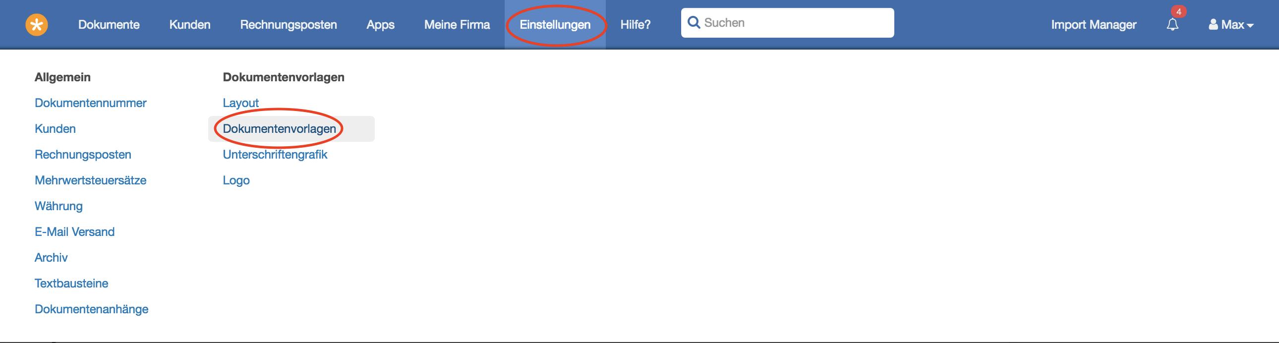 E Mail Betreff Und E Mail Text Easybill Gmbh